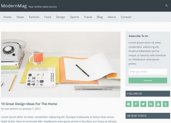 WordPress ModernMag Theme